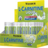 L-Carnitine Liquid, L-carnitin koncentrát, spaľovač tuku, ampulka 25 ml, Weider - Citrus