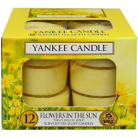 YANKEE CANDLE Flowers In The Sun čajové sviečky 12x 9,8 g