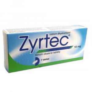 ZYRTEC 10 mg 7 tabliet